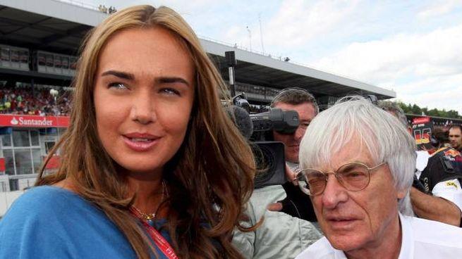 Tamara Ecclestone con il padre Bernie, ex patron del circus della Formula Uno