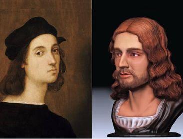 Ecco Raffaello, ricostruito il volto in 3D
