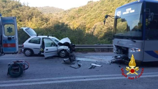 La scena dell'incidente