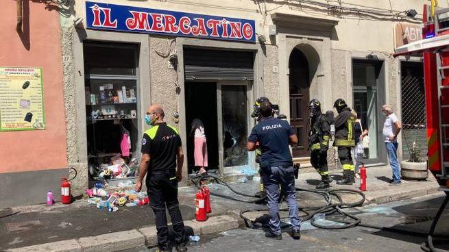 La scena dell'attentato (Foto Novi)