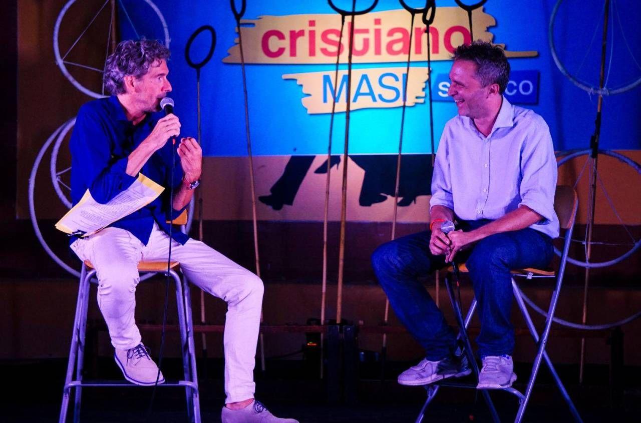 Cristiano Masi sul palco di San Sisto al Pino con Marco Vincent