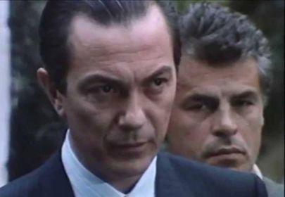 Remo Girone, 72 anni, con Michele Placido, 74: il cattivo Tano Cariddi contro il commissario Corrado Cattani, in «La piovra 4»