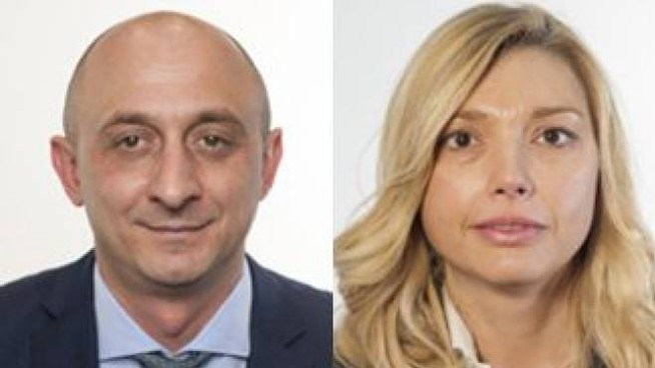 I parlamentari della Lega Andrea Dara ed Elena Murelli