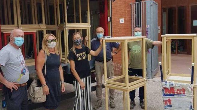 Banchi monoposto arrivati a Livorno