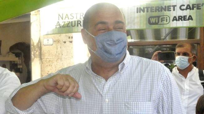 Zingaretti il 14 agosto ha fatto tappa ad Orbetello per sostenere la candidatura di Giani