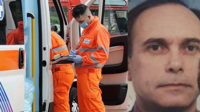 La vittima, Sergio Simoni. E' intervenuta l'ambulanza
