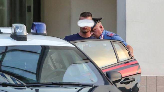 Uno dei ragazzi arrestati (foto Crocchioni)