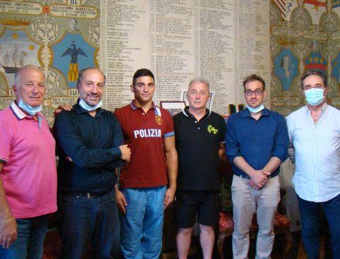 Carlo Macchini ricevuto al palazzo comunale