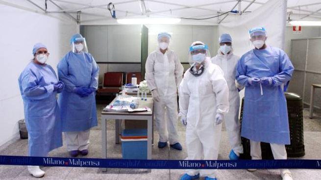 Coronavirus, i controlli Covid all'aeroporto di Malpensa (foto Imagoeconomica)
