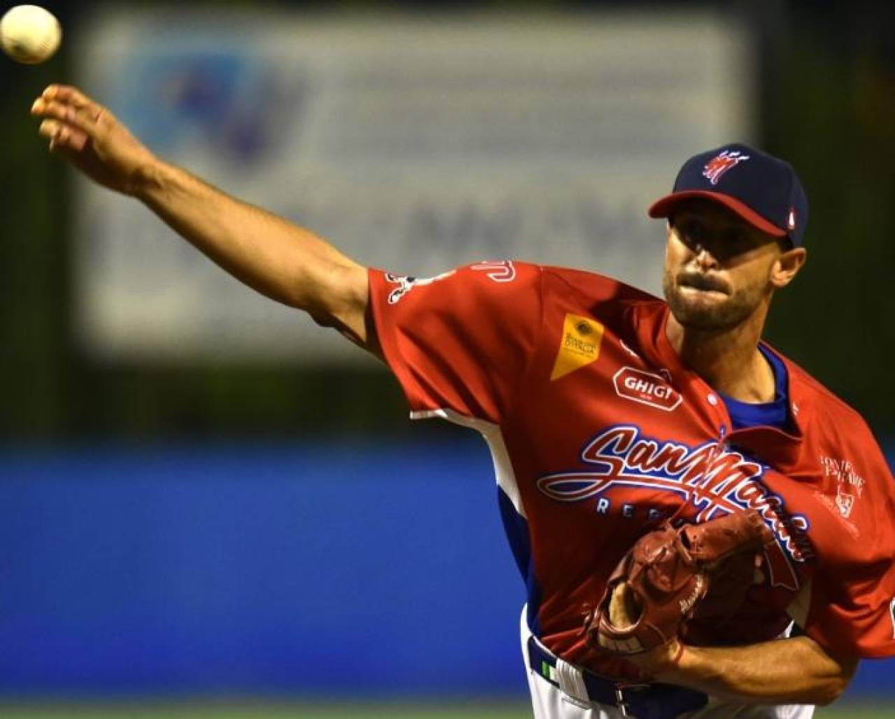 Il pitcher Alessandro Maestri ha coperto la gara effettuando 96 lanci