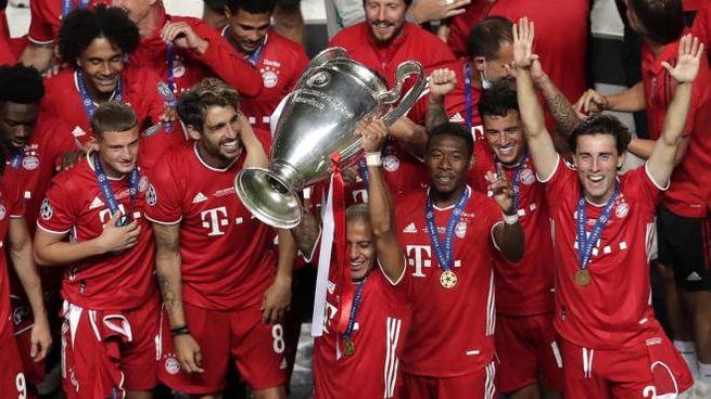 Bayern Monaco festeggia la vittoria in Champions (Ansa)