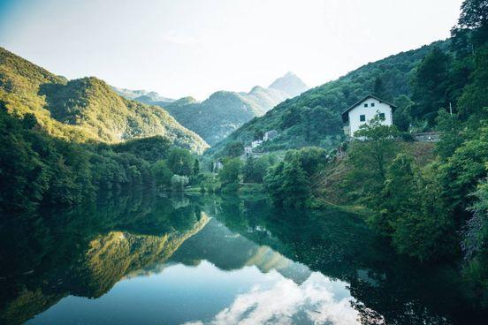 Lago di Isola Santa in Garfagnana