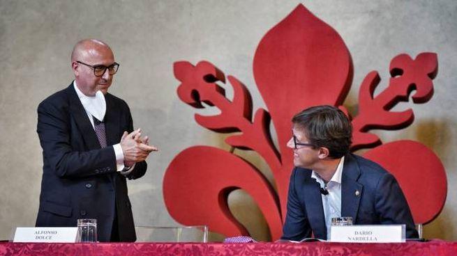 Da sinistra, Alfonso Dolce e il sindaco di Firenze Dario Nardella