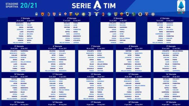 Serie A 2020 21 Il Calendario Tabellone In Pdf Sport Calcio Quotidiano Net