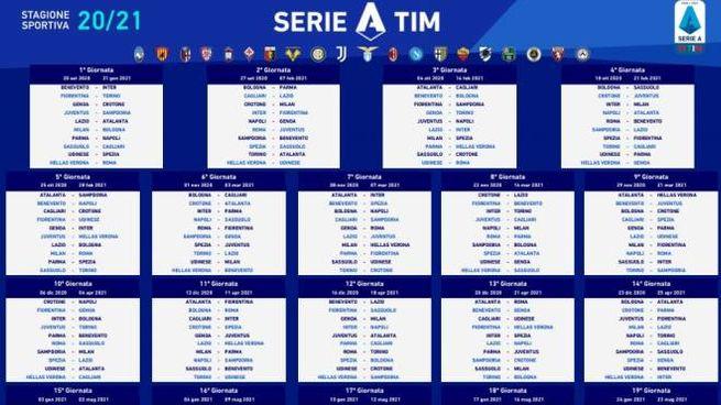 Serie A 2020/21, il calendario. Tabellone in Pdf   Sport   Calcio