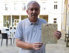 Vittorio Rossin, appassionato di cimeli e fotografie storiche con la lettera di Ludovico di Breme