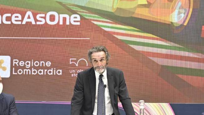 Attilio Fontana alla presentazione del Gp di Monza (Dire)