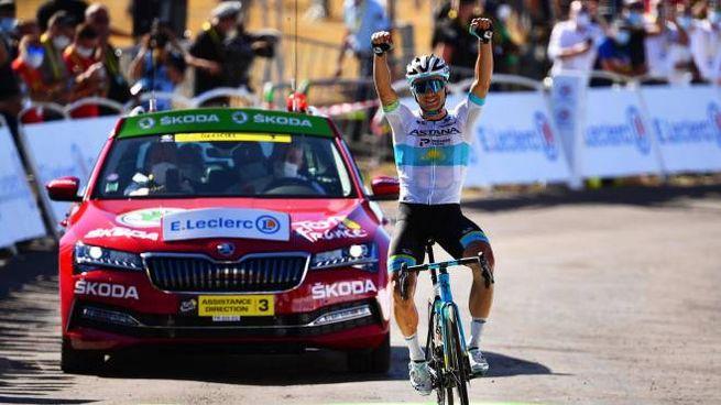 Alexey Lutsenko al Tour de France 2020 (Ansa)