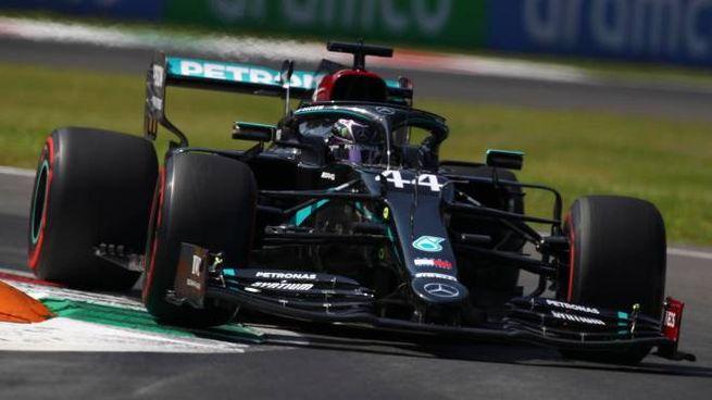 Lewis Hamilton a Monza (Ansa)