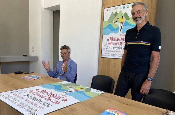 Stefano Marchegiani e Mauro Fumagalli, ideatori del Bike Festival