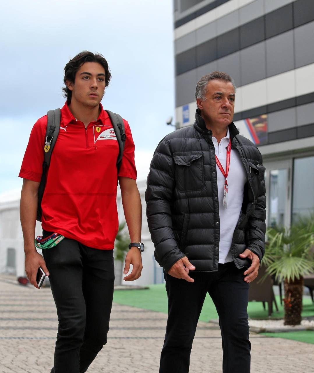 Jean Alesi con il figlio Giuliano
