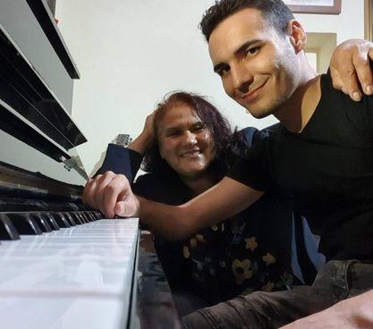 Sergio Catalano con Mabel Zarate