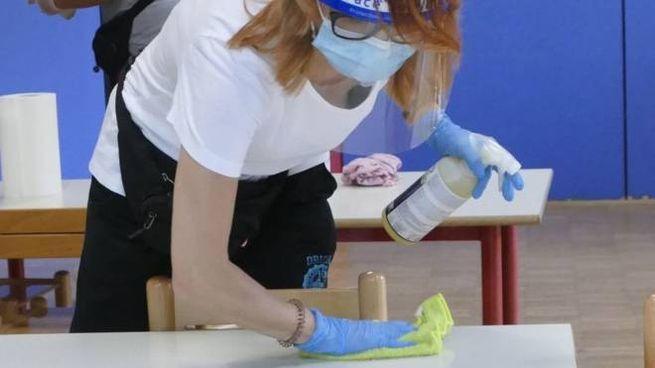 Sanificazione a scuola