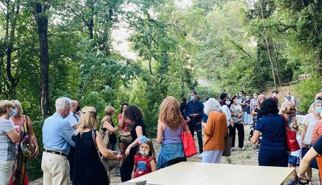 Un momento dell'inaugurazione del Parco di Casaglia