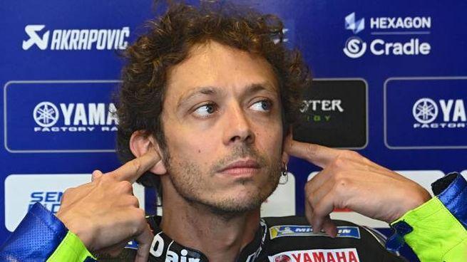 Valentino Rossi a Misano (Ansa)