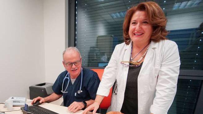 Patrizia Beacci e Andrea Mannini (foto Acerboni/FotoCastellani)