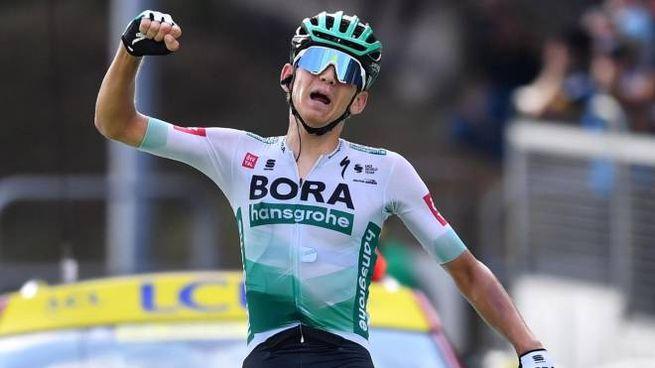 Tour de France 2020, l'esultanza di Kamna (Ansa)