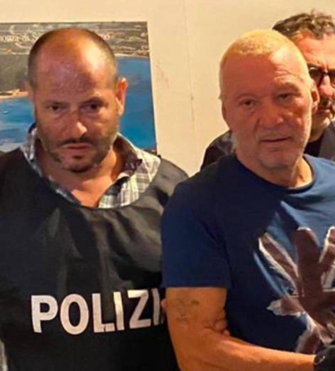 Johnny lo Zingaro subito dopo essere stato arrestato dalla polizia
