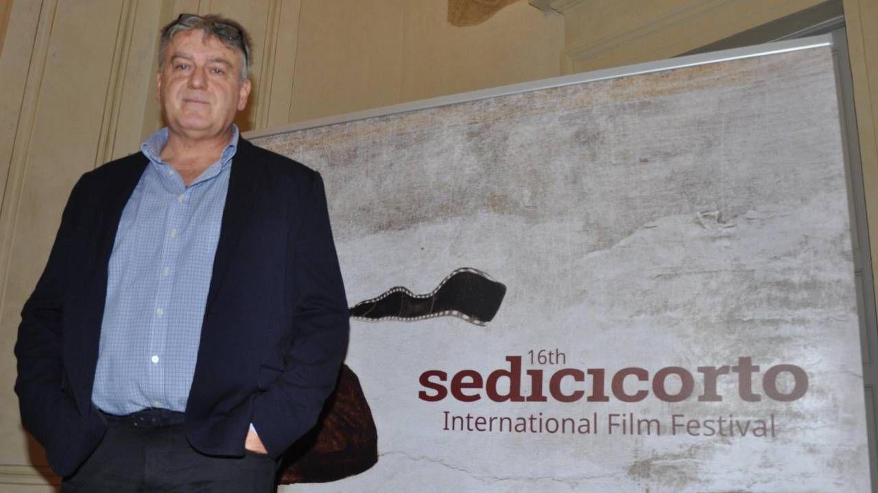 Il direttore artistico del festival internazionale del cortometraggio Gianluca Castellini durante l'ultima edizione. Quest'anno si terrà dal 2 all'11 ottobre