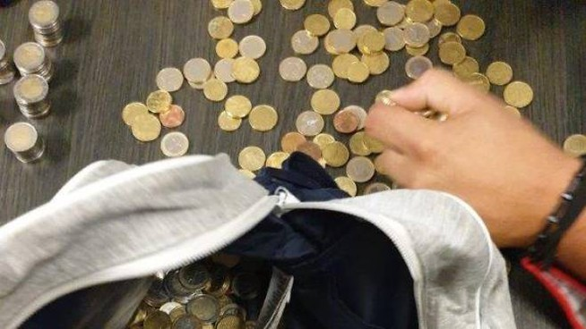 Il 'tesoro' in monete