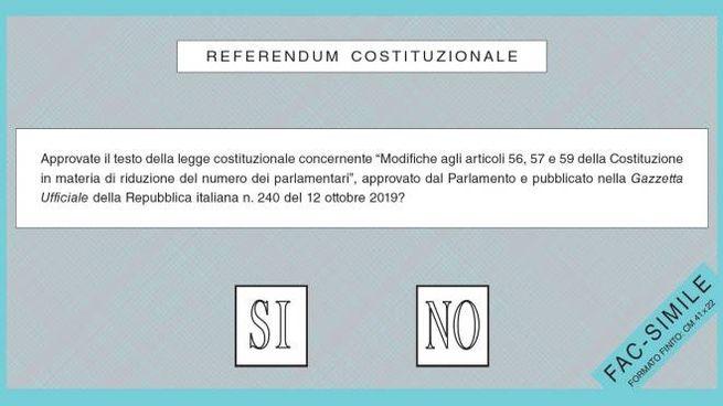 Referendum 2020, il fac simile della scheda