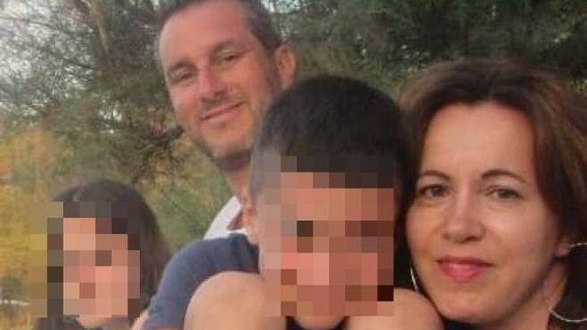 Valentina Carmiognani con la sua famiglia