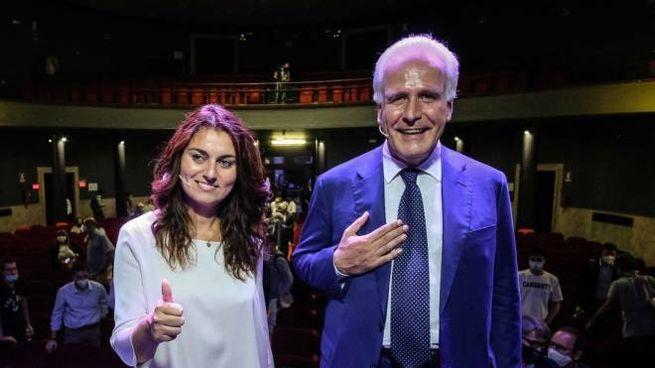 Eugenio Giani e Susanna Ceccardi (New Press Photo)
