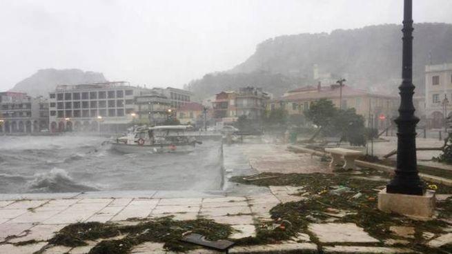 Il ciclone Medicane a Zacinto (Ansa)