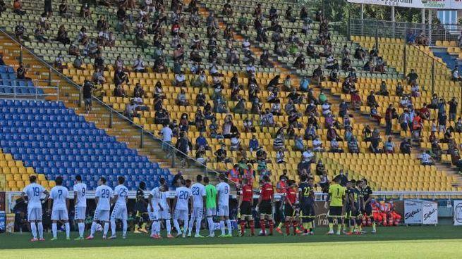 L'amichevole Parma-Empoli allo stadio Tardini di Parma (Ansa)