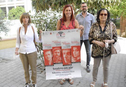 Un'immagine degli organizzatori dell'evento «Teatro on air»