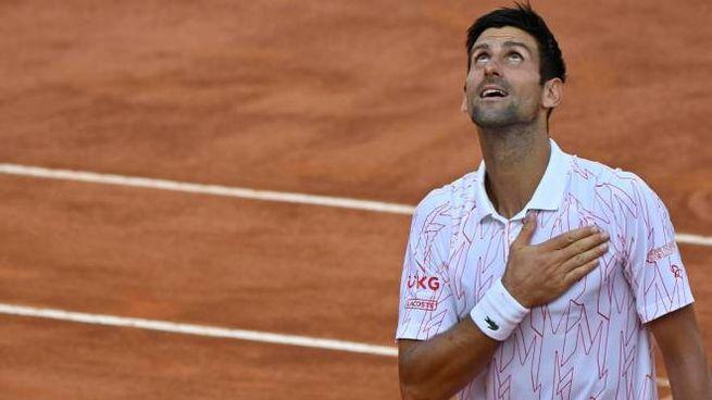 Novak Djokovic conquista la finale degli Internazionali d'Italia (Ansa)
