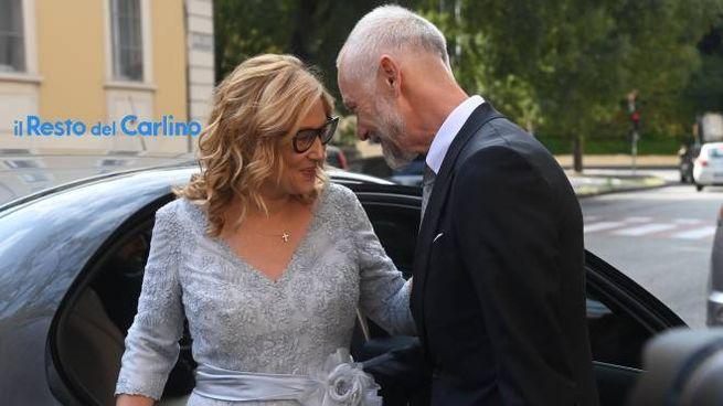 Nicoletta Mantovani e Alberto Tinarelli nel giorno delle nozze a Bologna (FotoSchicchi)