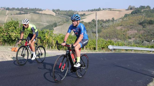 Nibali e Cassani provano il percorso dei Mondiali di ciclismo a Imola (IsolaPress)