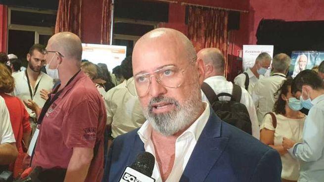 Stefano Bonaccini al comitato di Giani