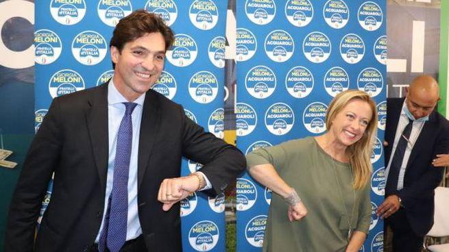 Francesco Acquaroli e Giorgia Meloni (ANSA)