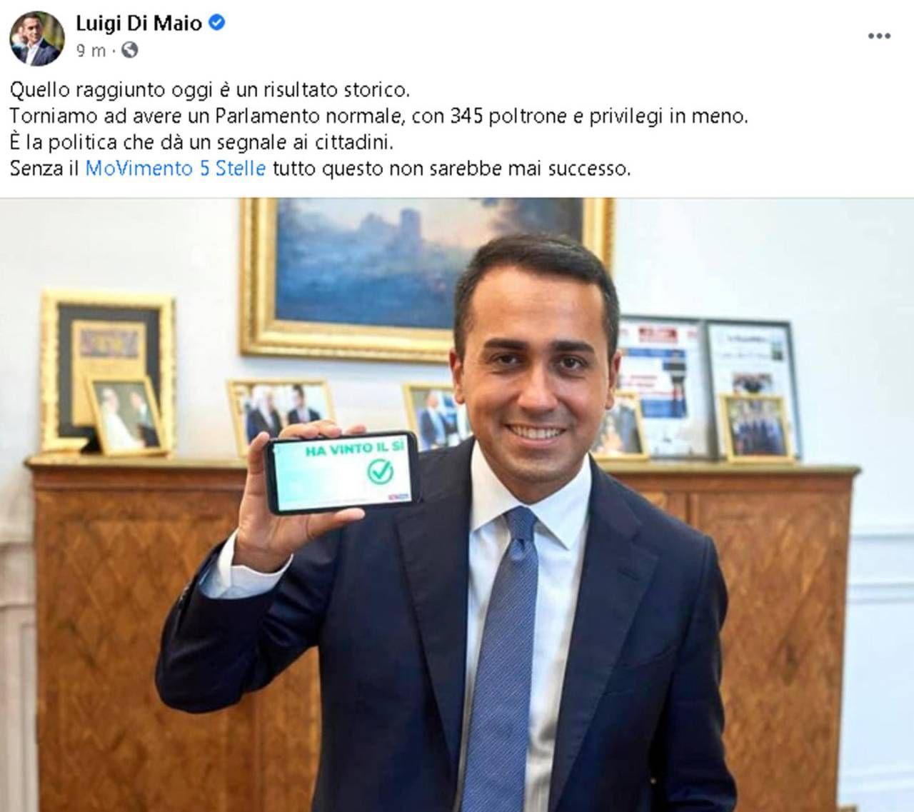 Su Fb Luigi Di Maio (Ansa)