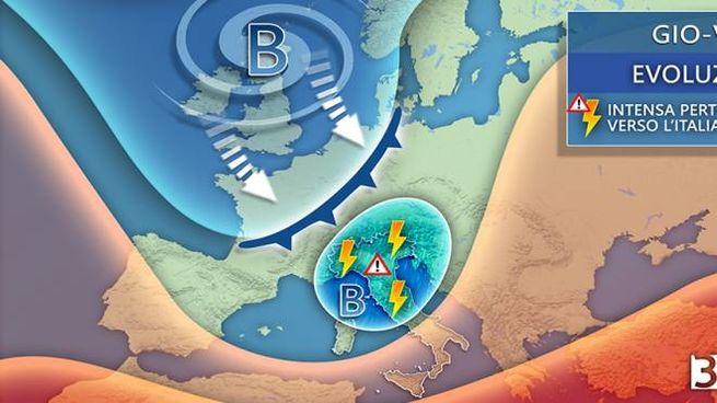 Previsioni meteo, entra in scena l'autunno (grafico 3bmeteo)