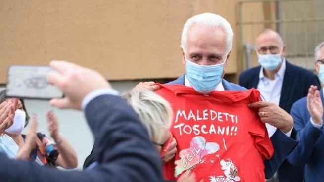 Il neo presidente della Toscana Eugenio Giani (Ansa)
