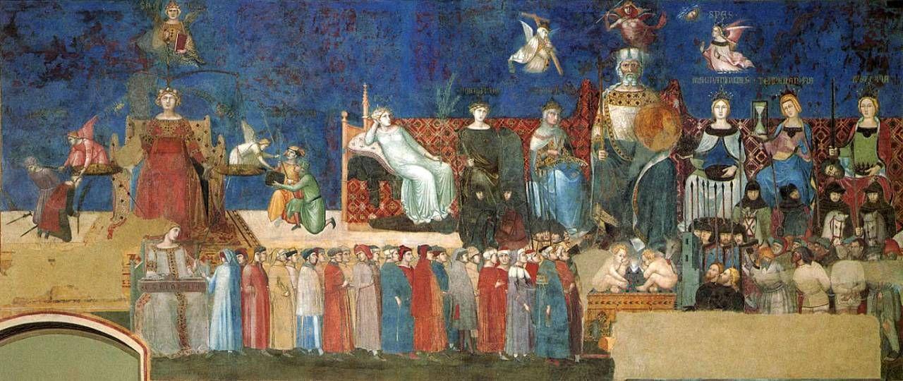 L'Italia dei Comuni nell'allegoria del Buon Governo o (1338-1339) di Ambrogio Lorenzetti