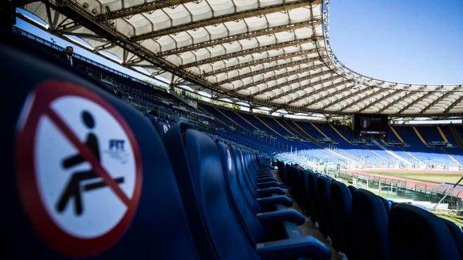 Lo stadio Olimpico di Roma (Ansa)